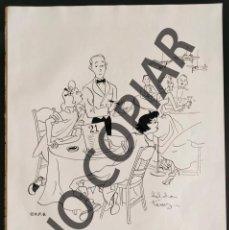 Postales: ILUSTRACIÓN CÓMICA DE HILDA TERRY. ILUSTRACIÓN EXTRAÍDA LIBRO CONMEMORATIVO. USA. AÑO 1950.. Lote 254181240