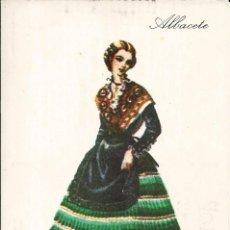 Postales: POSTAL TRAJE REGIONAL *ALBACETE* - PUBLICIDAD PRONITOL - 1973. Lote 254991960
