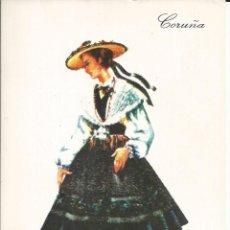 Postales: POSTAL TRAJE REGIONAL *CORUÑA* - PUBLICIDAD PRONITOL - 1973. Lote 254998860