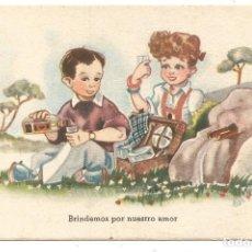 Postales: POSTAL DIBUJO CARICATURA NIÑOS ILUSTRADA ED C M B SERIE Nº 90 AÑO 1946. Lote 255397375