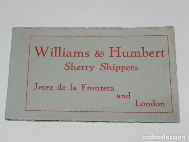 Postales: ANTIGUO ALBUM DE 10 POSTALES.WILLIAMS & HUMBERT.JEREZ FRONTERA.DIBUJOS MARTINEZ DE LEON. - Foto 2 - 257331645