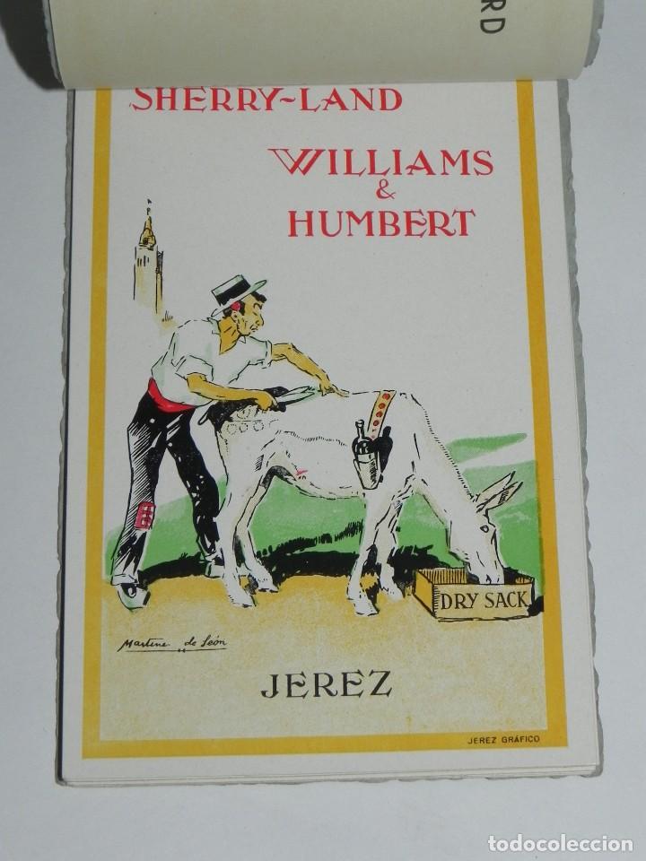 Postales: ANTIGUO ALBUM DE 10 POSTALES.WILLIAMS & HUMBERT.JEREZ FRONTERA.DIBUJOS MARTINEZ DE LEON. - Foto 5 - 257331645