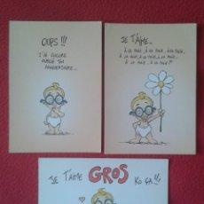 Postales: LOTE DE 3 POSTALES POST CARDS CARTES POSTALES POSTKARTES LES ENFANTS LA TELE JE T´AIME....., FRANCE. Lote 259874355