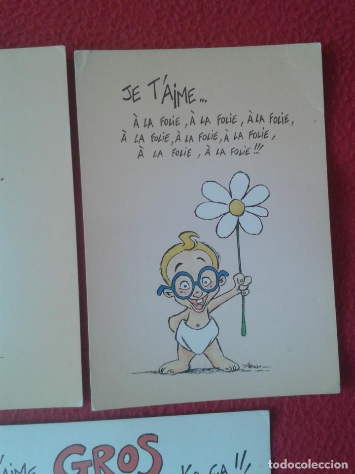 Postales: LOTE DE 3 POSTALES POST CARDS CARTES POSTALES POSTKARTES LES ENFANTS LA TELE JE T´AIME....., FRANCE - Foto 3 - 259874355