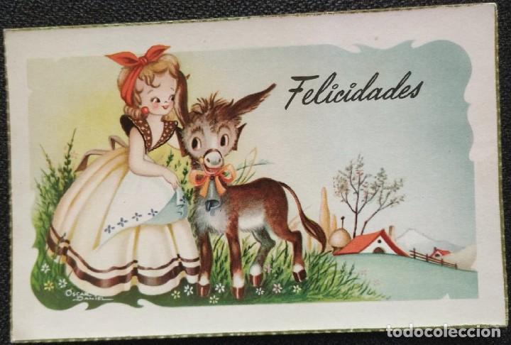 0718S - OSCAR DANIEL (NIUBÓ) -EDICIONES CYZ SERIE 541.A- DATA 1954 (Postales - Dibujos y Caricaturas)