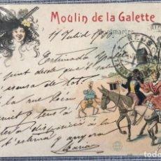 Postales: POSTAL ÉDITEUR CINOS Nº 13. ILUSTRADOR GEORGES REDON. MOULIN DE LA GALETTE. ART NOUVEAU.. Lote 262009490