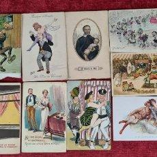 Postales: COLECCION DE 13 POSTALES CARICATURESCAS. LITOGRAFIA. EUROPA. CIRCA 1920.. Lote 262173155