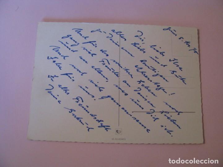 Postales: POSTAL DE FLORES. FELICITACION DEL CUMPLEAÑOS. ED. HORN, ALEMANIA. ESCRITA. 1970. - Foto 2 - 263262470