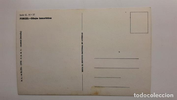 Postales: Postal Forges Lotería Navidad, FNMT, Serie G nº 12 - Foto 2 - 263622895