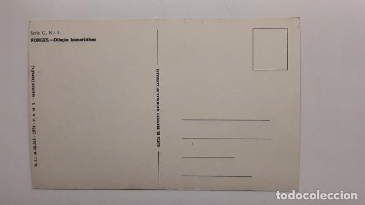 Postales: Postal Forges Lotería Navidad, FNMT, Serie G nº 4 - Foto 2 - 263622900