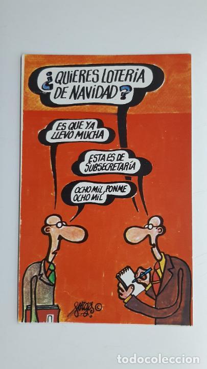 POSTAL FORGES LOTERÍA NAVIDAD, FNMT, SERIE G Nº 4 (Postales - Dibujos y Caricaturas)