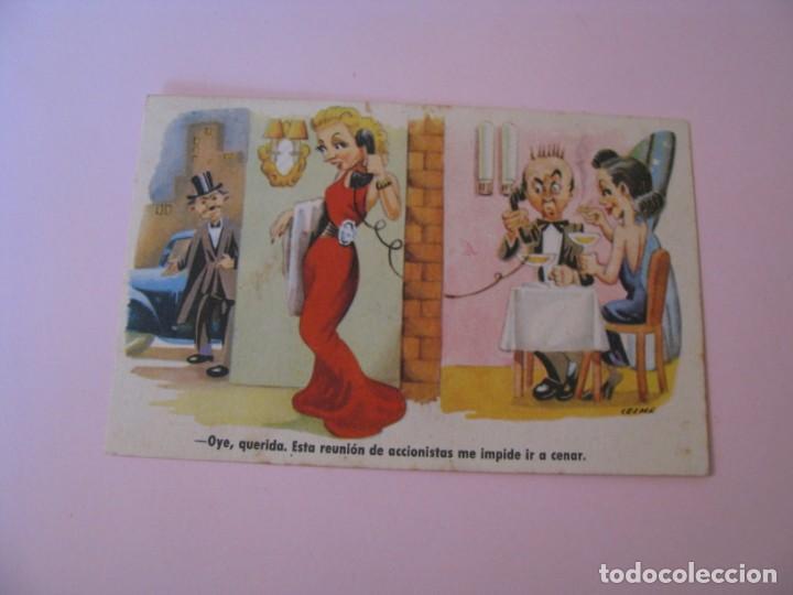 POSTAL CARICATURA DE IL. CELMA. ESTAMPERIA RAM. SERIE 71. ESCRITA 1954. (Postales - Dibujos y Caricaturas)