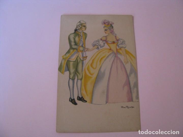 POSTAL DE IL. PILAR ARANDA. GRAFICAS LABORDE Y LABAYEN TOLOSA. REINA 64/2. ESCRITA. (Postales - Dibujos y Caricaturas)