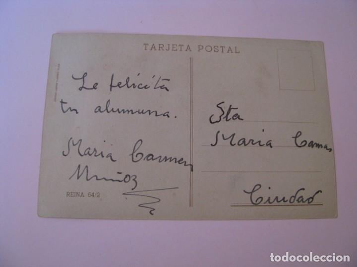 Postales: POSTAL DE IL. PILAR ARANDA. GRAFICAS LABORDE Y LABAYEN TOLOSA. REINA 64/2. ESCRITA. - Foto 2 - 263697180