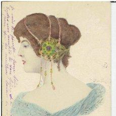 Cartes Postales: POSTAL ARTISTICA DIBUJADA, FRANCIA, E.S.W., SIN DIVIDIR, CIRCULADA CON SU SELLO. Lote 264080380