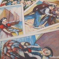 Postales: PESCADORES-COLECCION DE 5 POSTALES ANTIGUAS-ILUSTRADAS POR ZSOLT-VER FOTOS-(80.806). Lote 264247844