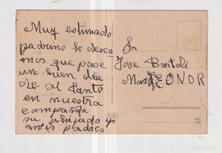 Postales: POSTAL DE DIBUJOS DANDO DE COMER A LAS GALLINAS EDITO CyZ ESCRITA - Foto 2 - 265480804