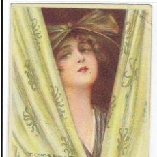 Cartes Postales: POSTAL ARTISTICA DIBUJADA, ITALIA, T.CORBELLA, PROP.ART.RISER, UFF REV.STAMPA N.4486, CIRC.S.PERDIDO. Lote 267396354