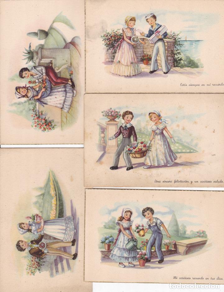 LOTE DE 9 POSTALES CARICATURAS LAS DE LAS FOTOS VER FOTOS ADICIONALES (Postales - Dibujos y Caricaturas)