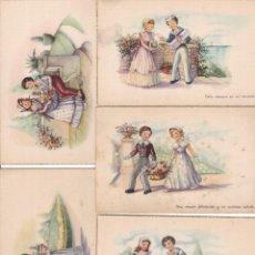 Cartes Postales: LOTE DE 9 POSTALES CARICATURAS LAS DE LAS FOTOS VER FOTOS ADICIONALES. Lote 267776054