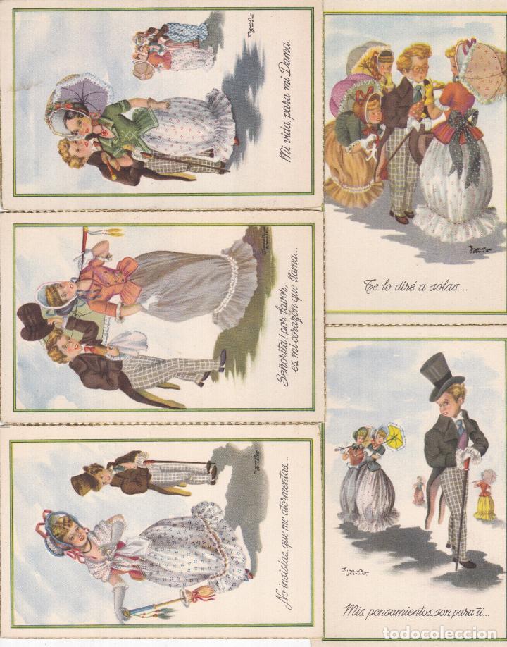 LOTE DE 5 POSTALES CARICATURAS LAS DE LAS FOTOS VER FOTOS ADICIONALES (Postales - Dibujos y Caricaturas)
