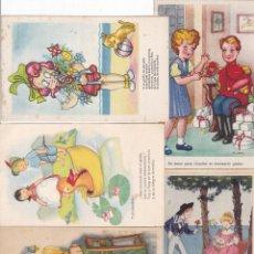 Cartes Postales: LOTE DE 8 POSTALES CARICATURAS LAS DE LAS FOTOS VER FOTOS ADICIONALES. Lote 267784969