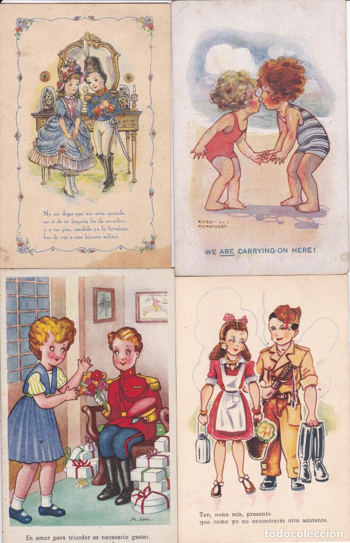 LOTE DE 7 POSTALES CARICATURAS LAS DE LAS FOTOS VER FOTOS ADICIONALES (Postales - Dibujos y Caricaturas)