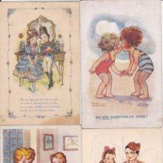 Cartes Postales: LOTE DE 7 POSTALES CARICATURAS LAS DE LAS FOTOS VER FOTOS ADICIONALES. Lote 267785259