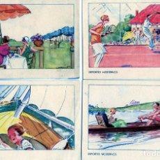 Postales: CINCO POSTALES=DEPORTES MODERNOS-VER FOTOS ADICIONALES DE LOS REVERSOS-LEER DESCRIPCION .. Lote 268933314