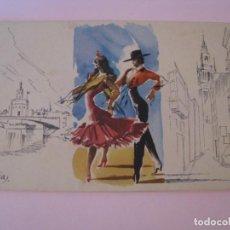 Postales: POSTAL DIPTICA DE IL. F. PIÑANA. ED. SU. SERIE 294, Nº 1. ESCRITA 1961.. Lote 268955104