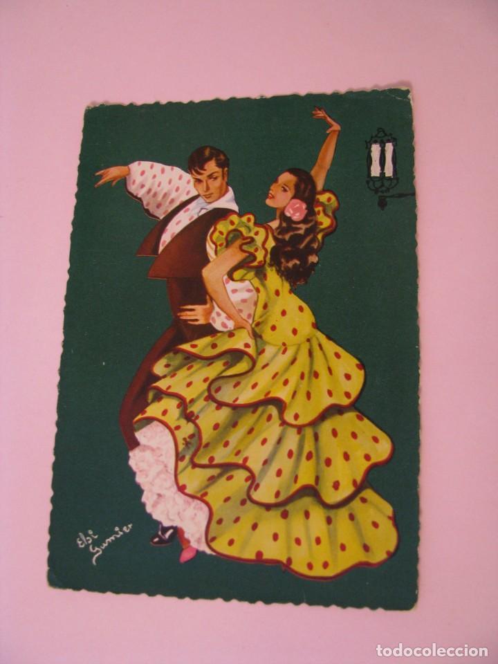 POSTAL DE IL. ELSI GUMIER. GRANADA. ED. JHERR, TORRE DE MADRID. (Postales - Dibujos y Caricaturas)