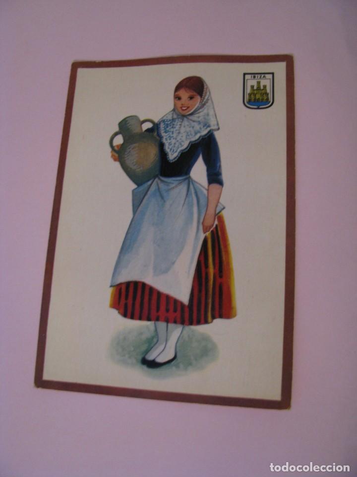 POSTAL DE IBIZA. TRAJES. TIPICA. OSCAR COLOR. Nº 6. BERGAS. (Postales - Dibujos y Caricaturas)
