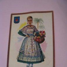 Postales: POSTAL DE ALICANTE. TRAJES. TIPICA. OSCAR COLOR. Nº 1. BERGAS.. Lote 269068843