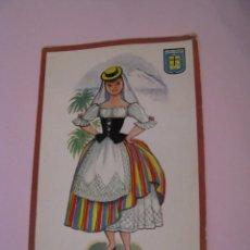 Postales: POSTAL DE SANTA CRUZ DE TENERIFE. TRAJES. TIPICA. OSCAR COLOR. Nº 9. BERGAS.. Lote 269069078