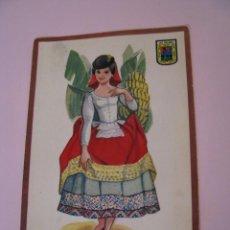 Postales: POSTAL DE LAS PALMAS. TRAJES. TIPICA. OSCAR COLOR. Nº 8. BERGAS.. Lote 269069413