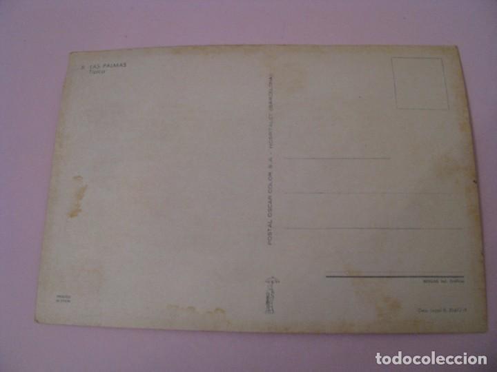 Postales: POSTAL DE LAS PALMAS. TRAJES. TIPICA. OSCAR COLOR. Nº 8. BERGAS. - Foto 2 - 269069413