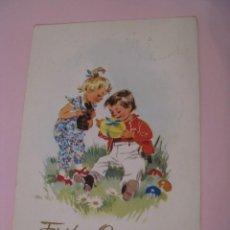 Postales: POSTAL DE DRA, DDR, ALEMANIA ESTE. FELICES PASCUAS. FROHE OSTERN. CIRCULADA 1961.. Lote 269069848