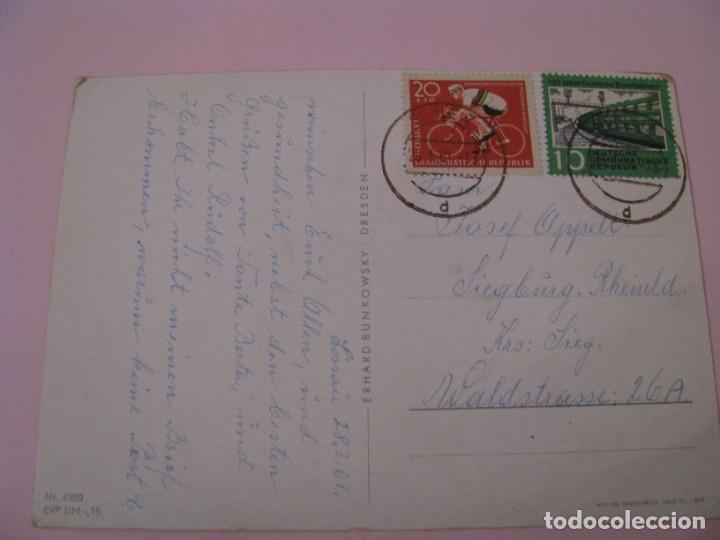 Postales: POSTAL DE DRA, DDR, ALEMANIA ESTE. FELICES PASCUAS. FROHE OSTERN. CIRCULADA 1961. - Foto 2 - 269069848