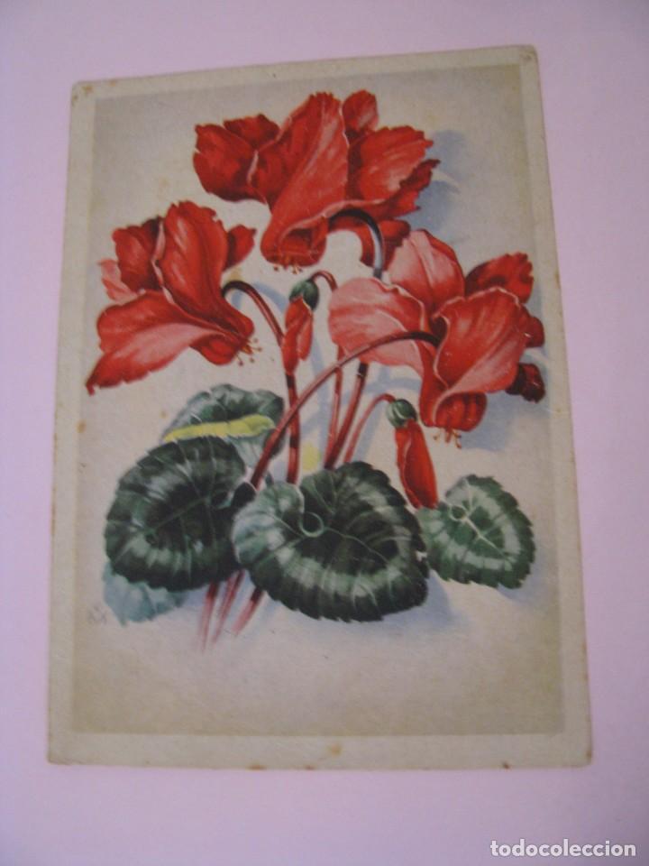 POSTAL DE ALEMANIA. OCUPACIÓN ALIADA. IMAGEN FLORES. CIRCULADA. 1945. (Postales - Dibujos y Caricaturas)