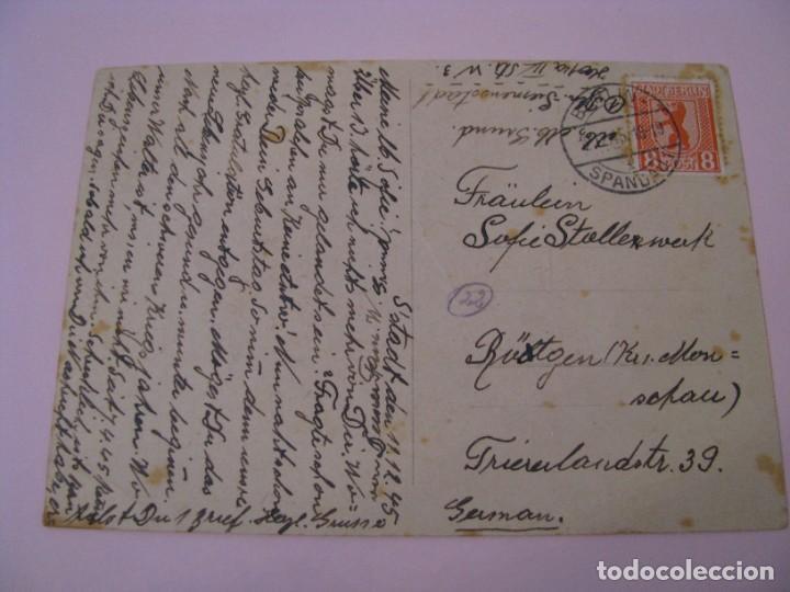 Postales: POSTAL DE ALEMANIA. OCUPACIÓN ALIADA. IMAGEN FLORES. CIRCULADA. 1945. - Foto 2 - 269071498