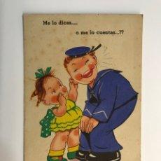 Postales: DIBUJOS Y CARICATURAS. POSTAL, I.G. VALVERDE. EDIC., AGUIRRE NO.13, (A.1945) DEDICADA…. Lote 269259518