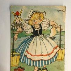 Postales: DIBUJOS Y CARICATURAS. POSTAL MARI PEPA, SERIE U, NO.9, ILUSTRA MARÍA CLARET (A.1946). Lote 269260093