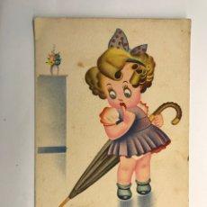 Postales: DIBUJOS Y CARICATURAS. POSTAL Y SI DICEN QUE.., ED. FHER 2506, (H.1945?) DEDICADA... Lote 269296043