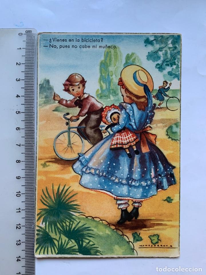 POSTAL. FELICITACIÓN. ILUSTRACION MONTSERRAT,R. EDICIONES COLON. BENISI. (Postales - Dibujos y Caricaturas)