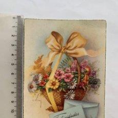 Postales: POSTAL. FELICITACIÓN. ILUSTRACION C. VIVES. C. Y Z. FECHA, 8 DICIEMBRE 1950.. Lote 269827113