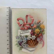Postales: POSTAL. FELICITACIÓN. ILUSTRACION C. VIVES. C. Y Z. FECHA, 30 AGOSTO 1952.. Lote 269827528