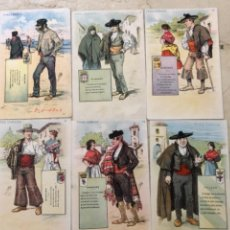 Postales: 6 POSTALES TIPOS CÓMICOS. SIN DIVIDIR. Lote 270607138