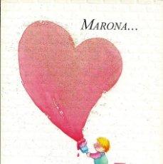 Postales: POSTAL FELICITACION *MARONA....* - DIPTICA, HALLMARK, 17,5X12 CM. Lote 270610898