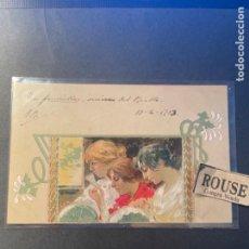 Postales: ANTIGUA POSTAL ILUSTRADA MODERNISTA ITALIANA R.TAFUY CIRCULADA 1903 REVERSO SIN DIVIDIR 14X9 CM.. Lote 270921778