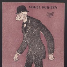 Cartoline: ILUSTRA *JOAN GRAU I MIRÓ - ANGEL GUIMERÁ 1909* SIN DATOS EDITOR. MEDS: 86X135 MMS. NUEVA.. Lote 4161526
